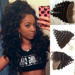 $enCountryForm.capitalKeyWord Canada - virgin Peruvian hair lace frontal closure 13x4 with free shipping Loose wave human hair ear to ear lace closure bleached knots