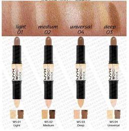 Discount sun tan wholesalers - 12pcs lot Free Shipping NYX Wonder Stick Concealer Eye Face Makeup Cover Women Med Tan Highligher Light Deep Medium Univ