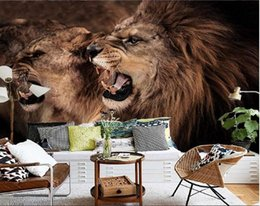 $enCountryForm.capitalKeyWord Canada - 3d wallpaper custom photo non-woven mural Roaring lions bedroom TV setting wall 3d wall murals wallpaper picture decoration painting