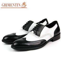 Leather Shoes Sale NZ - GRIMENTIN Mens oxford Shoes Genuine Leather mens dress shoes hot sale fashion designer formal business wedding office male shoes F59