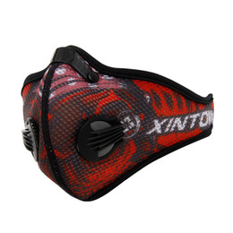 $enCountryForm.capitalKeyWord UK - Wholesale- Anti-Pollution Cycling Masks Mouth-Muffle Dustproof Bicycle Sport Carbon Filter Mask Activated Carbon Mesh Cloth Half Face Cover