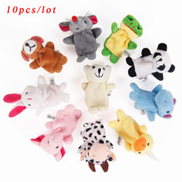 cute puppets UK - New Children Kids Cartoon Animal Finger Puppet 10 Pcs Animal Toys Baby Cute Dolls Baby Toy Animal Doll Z