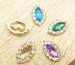 $enCountryForm.capitalKeyWord Canada - 50pcs Eye Shape Rhinestone Crystal Beads Button Flatback For Scrapbooking Craft DIY Hair Clip Accessories