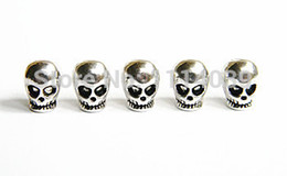 $enCountryForm.capitalKeyWord NZ - Free Shipping 50pcs Metal Skull Beads For Paracord Bracelets &Lanyards Metal Skull For Paracord Bracelet Knife Lanyards(Silver Plated)