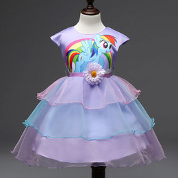 210years big kids girls dress little pony spring girl short sleeve dresses my girls princess for little pony costume cheap little pony halloween costume