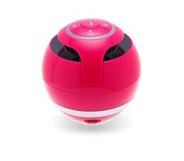 Wholesale Portable Mini Bluetooth Speaker Ball Wireless Column Handfree TF FM Radio With Mic MP3 Globe Audio Music For Phone PC
