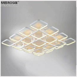 Square flush mount ceiling light online square flush mount high quality led flush mounted ceiling light fitting modern white acrylic square ceiling lamp for shopping mall hotel led lustre mozeypictures Image collections