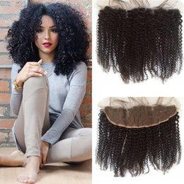 Cheap human hair dhl online shopping - Cheap Lace Frontal X4 Human Hair Afro Kinky Curly Brazilian Hair Bleached Knots Lace Frontals G EASY Hair DHL FREE