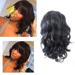 $enCountryForm.capitalKeyWord Canada - Glueless Body Wave Lace Front Human Hair Wigs Baby Hair Brazilian Full Lace Human Hair Wigs with Bangs