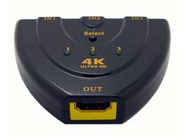 $enCountryForm.capitalKeyWord UK - Freeshipping 4K*2K 3D Mini 3 Port HDMI Switch 1.4b 4K Switcher HDMI Splitter 3 in 1 out Port Hub for DVD HDTV Xbox PS3 PS4 1080P