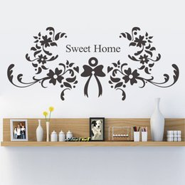 Flower Sweet NEW Bedroom Living Room Backdrop Removable Waterproof Vinyl  Decoracion Hogar Wall Stickers Vintage Home Decor