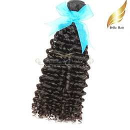 Discount hair weave color 22 Indian Curly Human Hair Bundles Natural Color Hair Extensions Wefts 1 or 2 or3pcs lot 8-30 Inch Bellahair