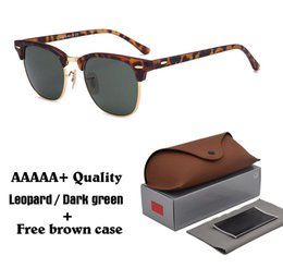Brown Sun Glasses NZ - 2018 Classic Retro Vintage Glass Lens Sunglasses Men Women Brand Designer Sun glasses uv400 Goggle with brown cases and box