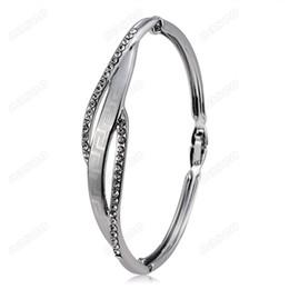 $enCountryForm.capitalKeyWord Canada - Brand Cason New Fashion women jewelry Mosaic type double hollow Bracelets Bangles silver Plated Silver colour drop shipping BGJ-0005