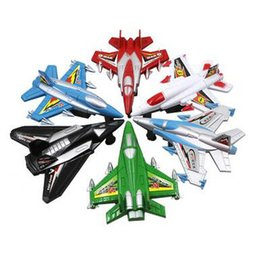 Toy Pull Cars UK - Children's Mini Airplane Toys 6PCS Set Cute Pull Back Car Pull Back Aircraft Military Model Combination Kid's Toys for Sale