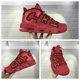 ... famous brand air more uptempo qs chicago mens basketball shoes cheap  uptempo chi red black training