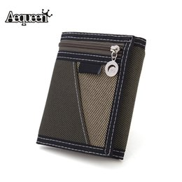 $enCountryForm.capitalKeyWord Canada - Wholesale- AEQUEEN Casual Trifold Short Wallet Men Canvas Fashion Purse Vertical Patchwork Design Coin Purses Male Card Holder Money Bag