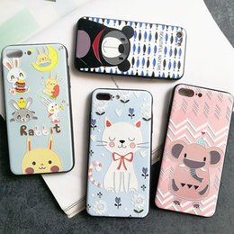 $enCountryForm.capitalKeyWord Canada - For Iphone 6 Phone Case Cartoon Piggy Cat Bear Rabbit Elephant Painted Relief Mobile Phone Cases For Iphone 6s 7 6 Plus