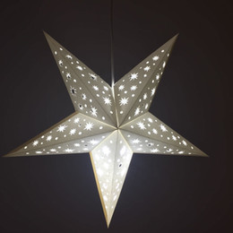 $enCountryForm.capitalKeyWord Canada - 17inch Solid White Cut-Out Paper Star Lantern Hanging Decoration for Christmas Wedding and Any Other Celebration