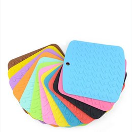 050f48aa94a Square pot holderS online shopping - Cup Coaster Heat Resistant Mat Silicone  Pot Holders Kitchen Accessories