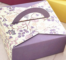 cake style candy boxes Canada - New 14x14x6.5cm chocolate boxes,6 styles boxes For Biscuit cookie wedding candy Gift Box 100pcs lot 63-80g moon cake food box free shipping
