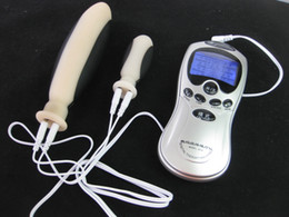 anal gear Canada - Electric Shock Electrode Anal Dildo Plug Butt Plug Stimulator Mastubator BDSM Bondage Gear Sex Toys Products