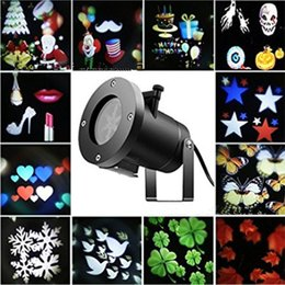 Wholesale Multicolor Christmas LED Projection Lamp Outdoor Waterproof Patterns Landscape Lawn Spike Lights For Garden Holiday Decoration