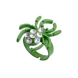 gypsy cluster ring 2019 - Fashionable Green Animals Zinc Alloy Painting With Spider Motif Ring cheap gypsy cluster ring