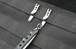 Bag Suspension Canada - E-08 Outdoor EDC Tool Bag Suspension Clip with Key Ring Carabiner Stainless Steel Quicklink Tactical Pocket multi-tool Survival Keychain