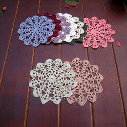 $enCountryForm.capitalKeyWord Australia - Lot of 12 pcs ~ 12cm Colorful round doily for deamcatcher, Dimeter:14 cm round doilies, nice crochet pattern coasters centerpieces for weddi