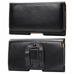 Discount black leather belt pouch - Genuine Real Leather Degree Celular Hip Holster Horizontal Clip Case For Iphone 7 6 6S SE For Huawei P9 P8Galaxy S7Buckl