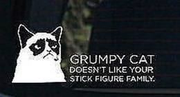 $enCountryForm.capitalKeyWord Canada - Grumpy cat doesn't like your stick Vinyl funny goodlooking Car Decals Stickers window phone Decal Sticker   reflective silver reflective red