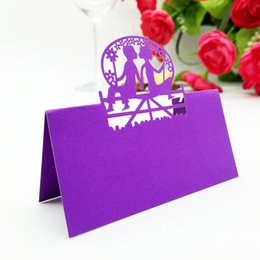 wedding party laser cut couple place settings pearl paper place cards place labels place tags