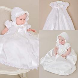 White Communion Dresses Short NZ - Vintage Short Sleeves First Communion Dresses 2016 Luxury Applique Lace Baby Girl Baptism Christening Dresses White Beige Baptism Bow Gowns