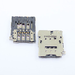 Discount sim socket connector - Wholesale-10pcs lot Sim Card Reader Connector Socket Holder Slot samsung Galaxy S6 G9200 G920F G920V