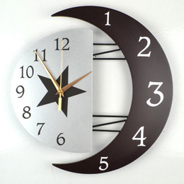 Wholesale Free Shipping Modern Decorative Wall Clock Mute Creative  Personality Living Room Clocks Hanging Table Clock Simple Fashion Bedro