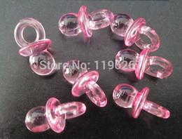Wholesale- 100PCS Adorable transparent dummies baby shower party favors souvenirs pacifier charms decoration baptism gift