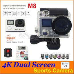 $enCountryForm.capitalKeyWord Canada - M8 Allwinner V3 Ultra 4K HD 2 inch 170° HDMI WIFI Action Cameras Dual Screen Waterproof Sports Camera + Remote Control DV DVR + retail box 5