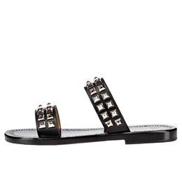 $enCountryForm.capitalKeyWord Canada - Karmran Mens Fashion Genuine Leather Beach Flats Strong Silver Stud Detailing Off-duty Sandal Shoes