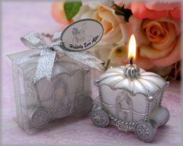 $enCountryForm.capitalKeyWord Australia - wedding favor candle Decoration--Fairy Tale Pumpkin Carriage Candles for baby shower party decoration 100pcs lot