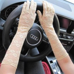 uv long driving gloves Canada - Wholesale- 2016 New ! Ladies Fashion Driving Lace Gloves Long Gloves Anti-UV Sun Block Armband UV Protected Women Summer Glove G498