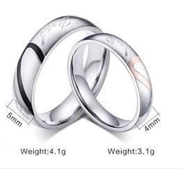 $enCountryForm.capitalKeyWord Canada - Wholesale -Fashion Creative Jewelry Ring Heart-Shaped Love Couple Rings Wedding Rings Titanium Steel Band Ring Bague Valentines Gift