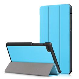 $enCountryForm.capitalKeyWord NZ - Tri-Folding High Quality PU Leather Case for Lenovo Tab 7 TB-7304F TB-7304I TB-7304X Stand Tablet Case+Stylus