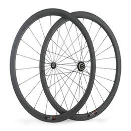 Best Bike Wheels UK - Best quality 3K weave 38mm depth 700C, Powerway R36 hub 38mm rueda tubular road bike wheel set basalt freno ruedas clincher