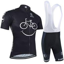 BXIO Neue Kommende Radtrikots Gelbes Lächeln Mountainbike Kleidung Kurzarm Quick Dry Radfahren Sets Atmungsaktive Bikes Kleidung BX-085 im Angebot