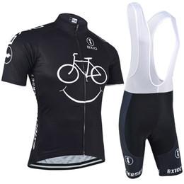 BXIO New Comming Maglie da ciclismo Giallo Sorriso Mountain Bike Abbigliamento manica corta Quick Dry Cycling Set Bici traspirante Vestiti BX-085