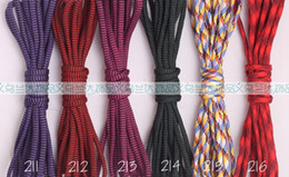 paracord lanyard 2019 - Wholesale-100m 100% Nylon 550 Paracord Mil-Spec Type III Parachute Cord Lanyard Rope 7 Strand 75 COLORS choices discount