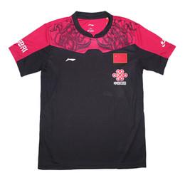 Li Ning Shorts Red Canada - 2016 Li-Ning table tennis shirt Men Women , Zhang JiKe Jersey pingpong tshirt China Table Tennis Team uniforms , badminton shirt 36139