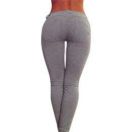 Pantalon Super Sexy Pas Cher-Wholesale- Pantalons Super Slim Pencil Calabres Femmes Basse taille Sexy Ladies Hip Push Up Leggings Jeggings Gothic Skinny Leggings Femme Pantalons nd0
