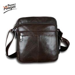 Discount phone angels - hanging Angel Voices! Hot sale New fashion genuine leather men s small shoulder bag men messenger bag crossbody leisure